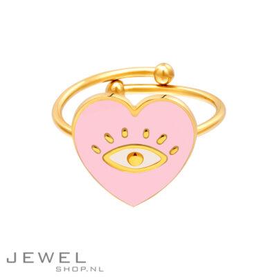Heart Eye Pink Ring