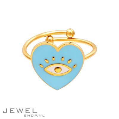 Heart Eye Blue Ring